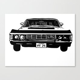 Supernatural 1967 Chevy Impala Canvas Print