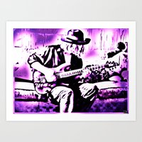 rock n roll Art Prints featuring Rock N' Roll Gypsy by Jussi Lovewell