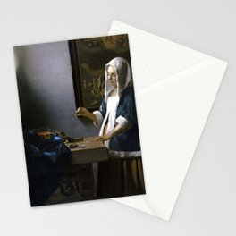 Johannes Vermeer Woman Holding a Balance Stationery Cards