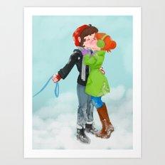 Winter Kiss Art Print
