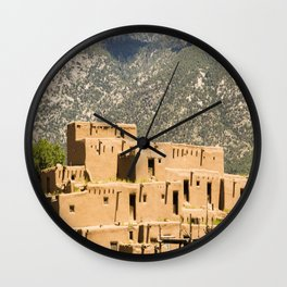 Taos Pueblo Wall Clock
