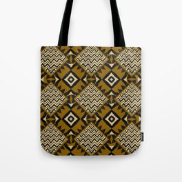 Checkered Tribal Tote Bag
