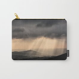Sunbeams illuminate the hills below Carry-All Pouch
