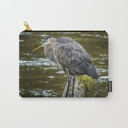 Rainy Day Heron Carry-All Pouch