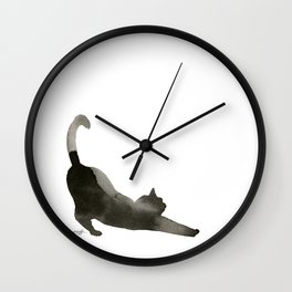 I Love Cats No.1 by Kathy Morton Stanion Wall Clock
