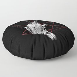 Satanic Goat | Occult Art Floor Pillow