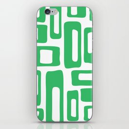 Retro Mid Century Modern Abstract Pattern 336 Green iPhone Skin