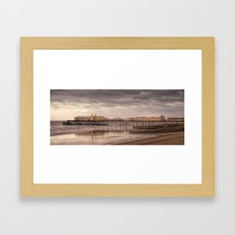 Hastings Pier And Storm Clouds Framed Art Print