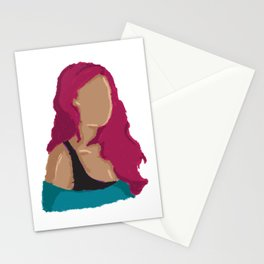 No face tired Stationery Cards