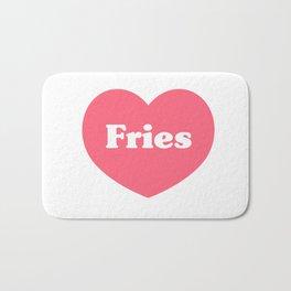 Heart Fries Bath Mat