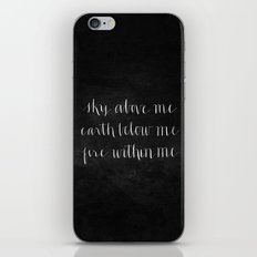 Fire Within Me // White on Black iPhone & iPod Skin