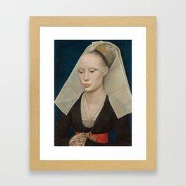 Portrait of a Lady by Rogier van der Weyden Framed Art Print