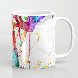 Moose Watercolor Grunge Coffee Mug