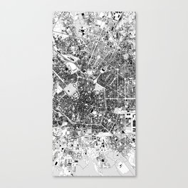 milan central map Canvas Print