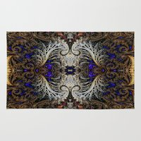 ornate elephant Area & Throw Rugs featuring Ornate by RingWaveArt