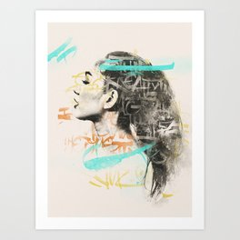 Girlink Art Print