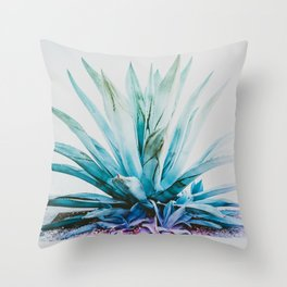 Agave Aura Throw Pillow