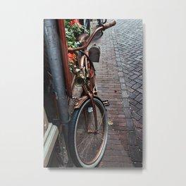 Bronze Bicycle Metal Print