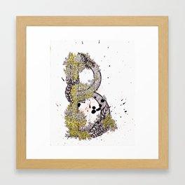 alphabet-B Framed Art Print