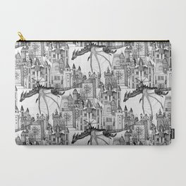 Dragon Kingdom Winter Toile Carry-All Pouch