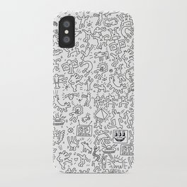 Doodles Homage to Keith Haring  iPhone Case