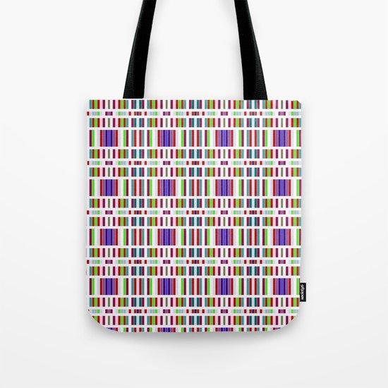 Retro Bar Pattern Tote Bag