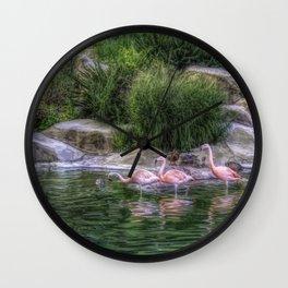 Three pink lovelies Wall Clock
