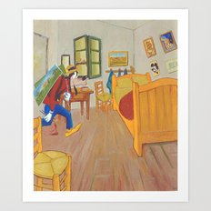 Goofy as Vincent Art Print