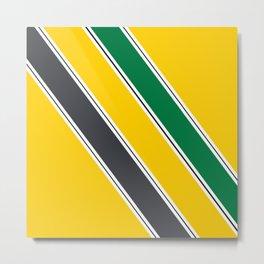 Ayrton Senna Stripes Metal Print