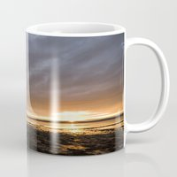 channel Mugs featuring Channel Sunset by Don Hooper