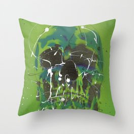 Skull #5 Throw Pillow