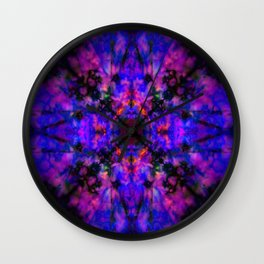 Dark blue kaleidoscope pattern Wall Clock