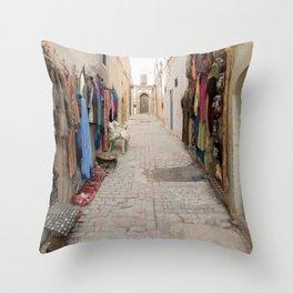 Moroccan Street Market Throw Pillow