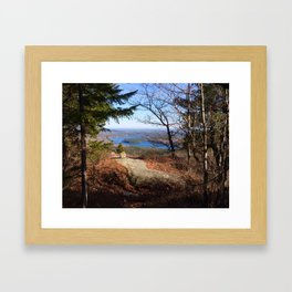 Top of Tunk Mountain Framed Art Print