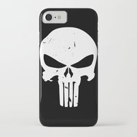 punisher iPhone & iPod Cases featuring The Punisher by sokteulu