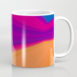 Abstract geometric pattern.Multicolored stripes Coffee Mug