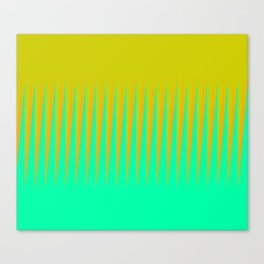 Lime Citrus Diagonal Slant Canvas Print