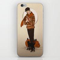 castiel iPhone & iPod Skins featuring Castiel by Linneart
