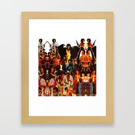 The Black Invasion Framed Art Print