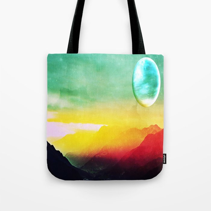 Luna verde Tote Bag