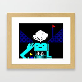 Do You Go Where I Go? page 3 (teletext) Framed Art Print