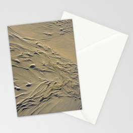 STREAMING BEACH SAND RIPPLES ABSTRACT Stationery Cards