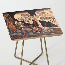 Takiyasha the Witch and the Skeleton Spectre, by Utagawa Kuniyoshi Side Table