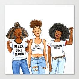 Black Girls are... Canvas Print