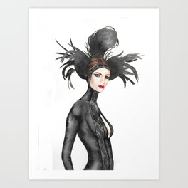 Black Feathers Art Print
