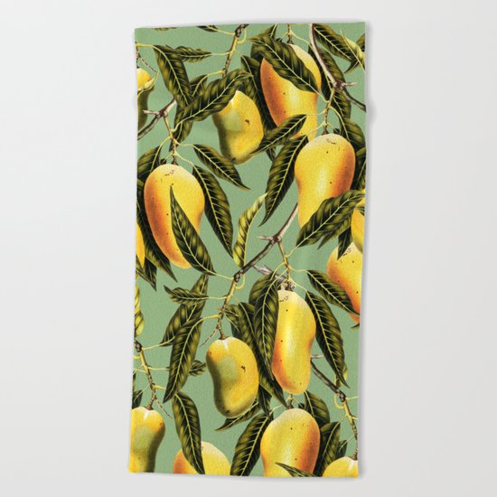 Mango Season #society6 #decor #buyart Beach Towel