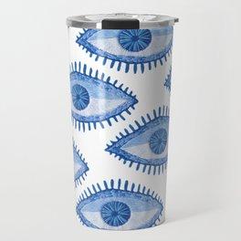 Embroidered evil Eyes Travel Mug