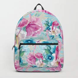 Flamingo and flower pattern Backpack