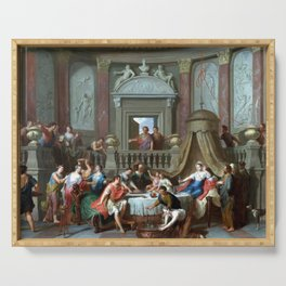Gerard Hoet The Banquet of Cleopatra Serving Tray