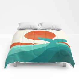 Wave (day) Comforters